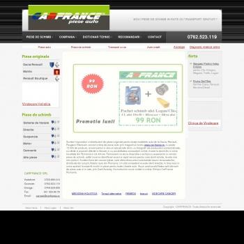 Website pentru firma SC CARFRANCE TRADING SRL