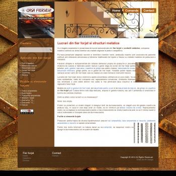 Website pentru firma Casa Fierului