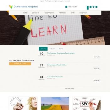 Website pentru firma Creative Business Management
