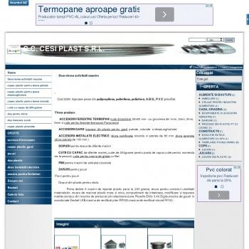 Website pentru firma Cesi Plast