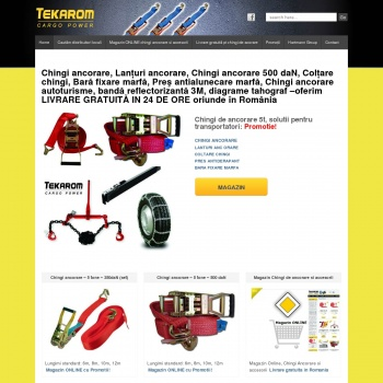 Website pentru firma SC TEKAROM SRL