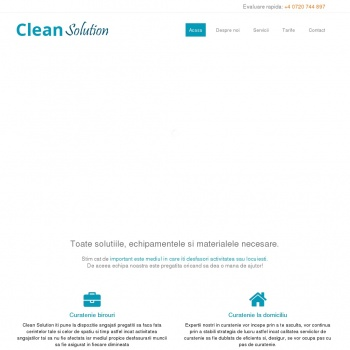 Website pentru firma Clean Solution
