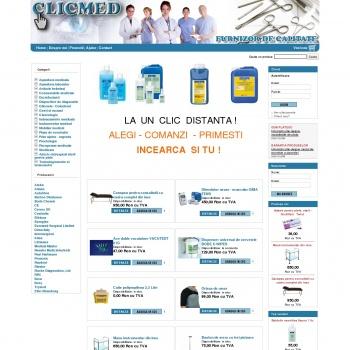 Website pentru firma SC Clic Med Trade srl