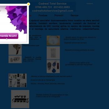 Website pentru firma Codreal total service