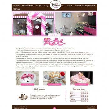 Website pentru firma Cofetaria BLISS SRL