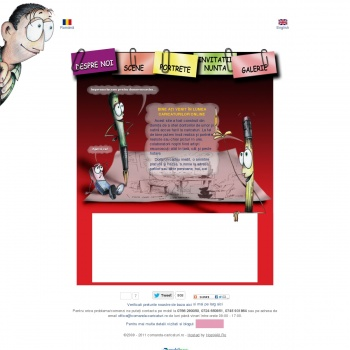 Website publicat de caricaturist