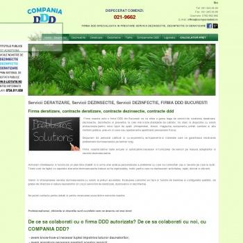 Website pentru firma COMPANIA DDD