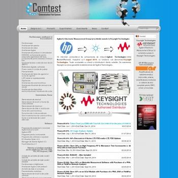 Website pentru firma COMTEST