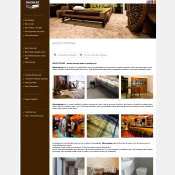 Website pentru firma ConcreteArt Construct