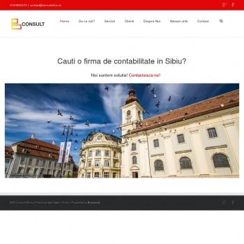 Website pentru firma B Consult