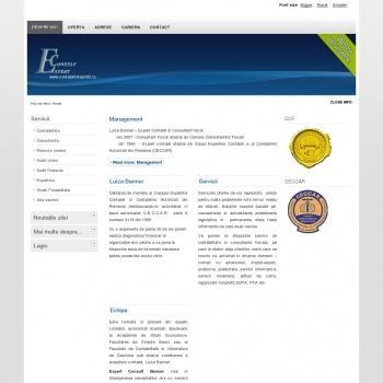 Website pentru firma EXPERT CONSULT BANNER