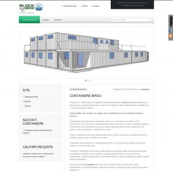 Container birou. Producator containere birou.