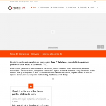 Website pentru firma Core IT Solutions