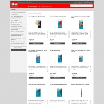 Website pentru firma Prym Fashion Romania