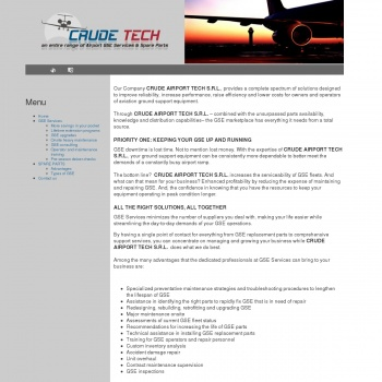Website pentru firma CRUDE AIRPORT TECH S.R.L.