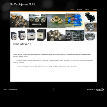 Website pentru firma Sc Cuplajeserv S.R.L