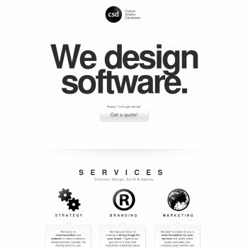 Website pentru firma Custom Solution Developers SRL