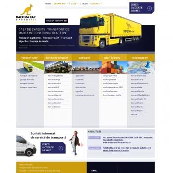 Website pentru firma DACOMA CAR SRL