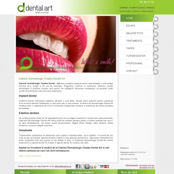 Website pentru firma CMA Dr. Pantel Dental-Art