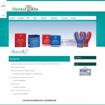 Website pentru firma dental kiss srl deva