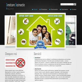 Website pentru firma DeratizareDezinsectiePestControl