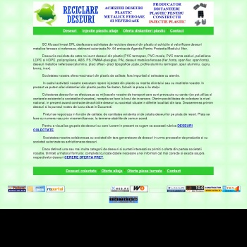 Website pentru firma Alucast Invest SRL