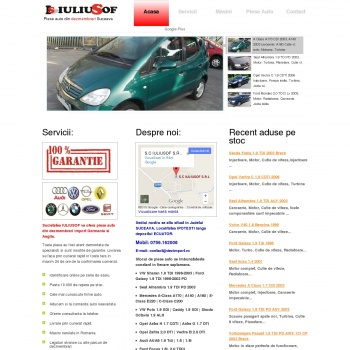 Website pentru firma IULIUSOF