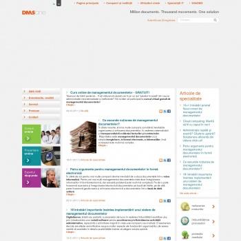Website pentru firma SC DMS ONE SRL