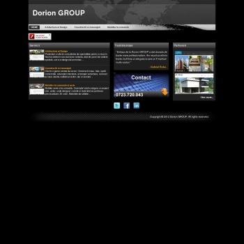Website pentru firma Dorion GROUP