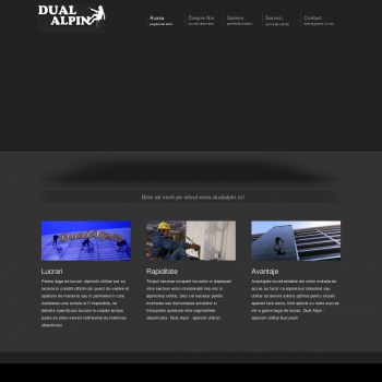 Website pentru firma SC DUAL ALPIN SRL