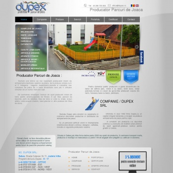 Website pentru firma SC DUPEX SRL