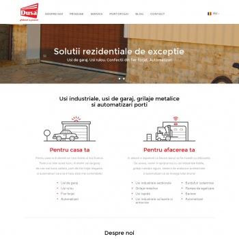 Website pentru firma SC DUSADOR SRL
