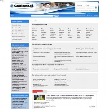 e-Calificare : cursuri de calificare profesionala