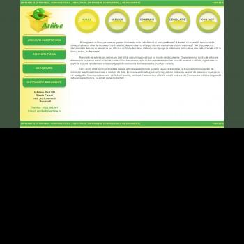 Website pentru firma E ARHIVE START SRL