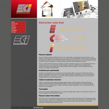 Website pentru firma SC ELECTROCALOR INSTAL SRL