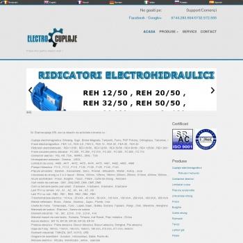 Website pentru firma SC Electrocuplaje S.R.L