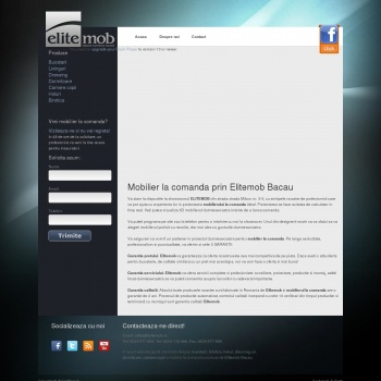 Website pentru firma ELITEMOB BACAU