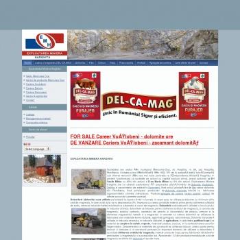 Website pentru firma Exploatarea Miniera Harghita