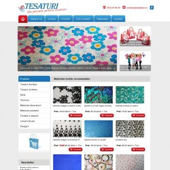 Website pentru firma eTesaturi.ro