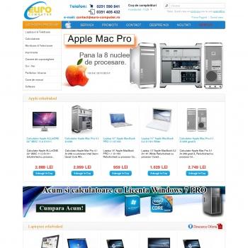Website pentru firma EURO-COMPUTER SRL