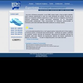 Website pentru firma SC Eurotranslate SRL