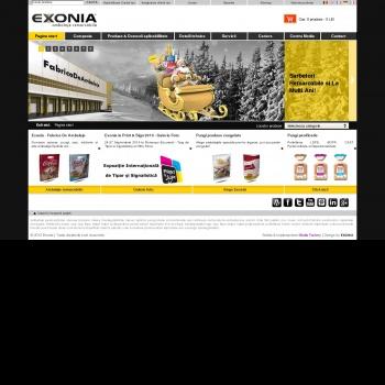 Website pentru firma Exonia Holding