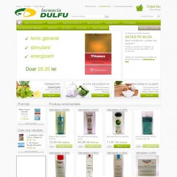 Website pentru firma SC Farmacia Dulfu SRL