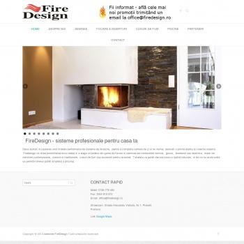 Website pentru firma FireDesign SRL