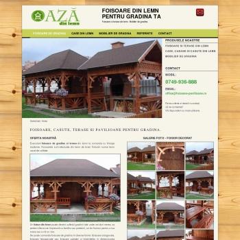 Case din lemn, foisoare, casute, cabane din lemn