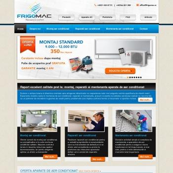 Website pentru firma Frigomac