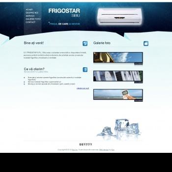 Website pentru firma FRIGOSTAR S.R.L. Sibiu