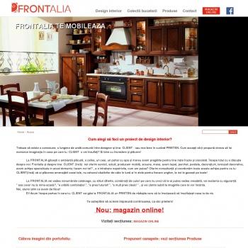 Website pentru firma FRONTALIA SRL