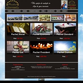 Website pentru firma servicii funerare president craiova