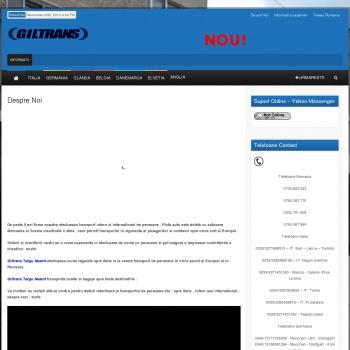 Website pentru firma GILTRANS